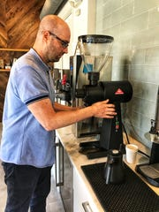 Path Coffee owner Jason RIchter makes the ideal cuppa Joe at his new Port Chester space. Photographed June 26, 2018