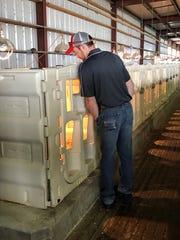 A participant in the Vita Plus Farm School checks out