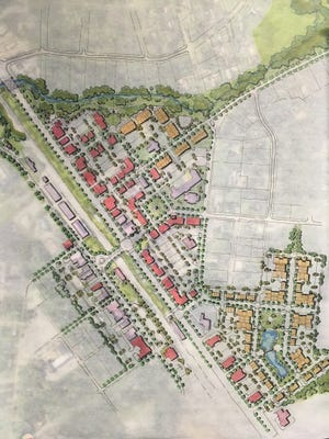 This rendering show the latest draft for the Smyrna Downtown Master Plan.