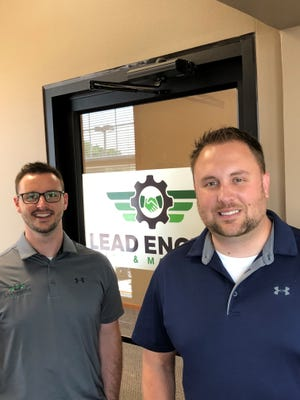 Pat Spirlmann (left) and Brandon Kathman are the co-founders of Lead Engine in Brandon.