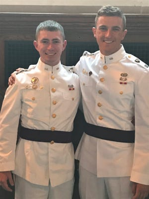 Daniel Provaznik, left, and Remington Ponce-Pore both grew up in Fort Collins. The two graduated from West Point Military Academy this May.