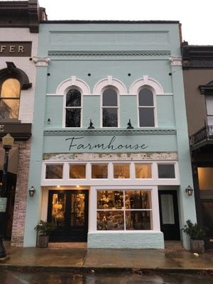 Farmhouse is at 165 W. Peace St. between Dane Design and Unique Antiques on the Square in Canton.