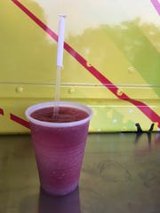 A wine slushie from the Merritt Slush Bus at the 2018 Xerox Rochester International Jazz Festival.