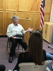 Film producer and director Lyman Dayton presents a youth acting workshop in St. George, Utah, February 2018.
