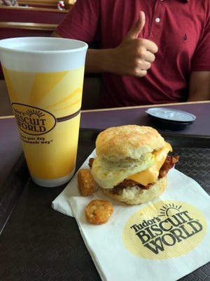 Tudor's Biscuit World fuels motorists with artery clogging goodness.