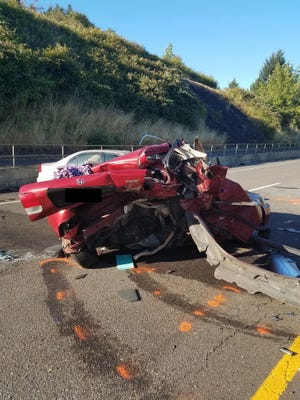 The driver of a Honda Civic died in a crash on Highway 22 Sunday, July 8, 2018.