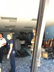 An SUV drove into the Pro Nails salon located in the Waynesboro Town Center on Monday afternoon.