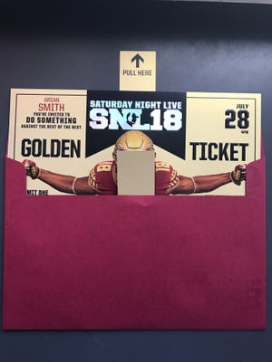 The invites FSU is sending out to recruits for the Saturday Night Live recruiting event.