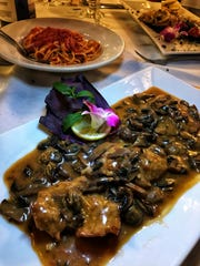 Veal Marsala at Prato Trattoria in Carmel. Photographed