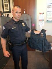 Fort Collins Police Services Lt. Jerrod Kinsman holds