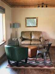 Comfortable seating invites guests to sit and take
