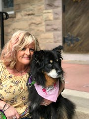 The Hungry Hound owner Penny Milligan and her dog Talulah