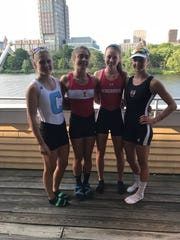 The quad (left to right, Liza Ray, Columbia University 2020; Janice Hagerman, Boston University 2019; Grace Joyce, The University of Wisconsin 2020; Olivia Farrar, Harvard University 2021)