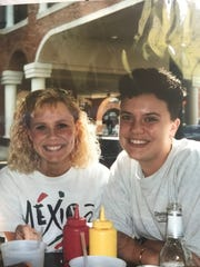 Jeanna Davenport (left) and Betty Engel during college.