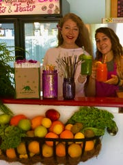 Nikki Rood, pictured left, is the owner of Sanibel Sprout. She offers $1 off juices and smoothies to customers who bring their own reusable straw.