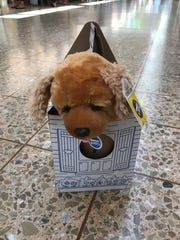 Here's the puppy that one of the lucky kids was able to make at Build-A-Bear Thursday morning.