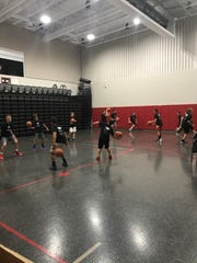Kids at the Next Level Basketball 419 Camp participate in special drill stations last week at Buckeye Central High School.