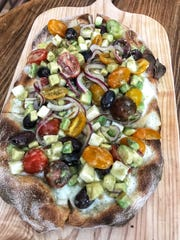 The avocado pizza at TVB By: Pax Romana  in White Plains.