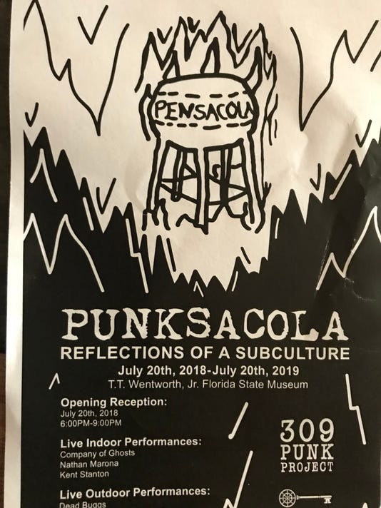 Pensacola  punk exhibit  at T.T.  Wentworth  Museum