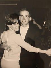 Sandra and Larry Gresham on their honeymoon. They were