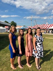 Jenna Condon, Catelyn Picco, Abigail Bralick and Katie Bugenhagen (from left) were the contestants for Fairest of the Fair in Waukesha County. Bralick emerged as both the winner and Miss Congeniality in the 2018 event.