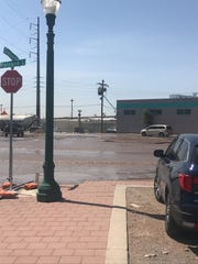 A water main break Friday caused a section of Paisano Drive to be closed to traffic in the Downtown area.