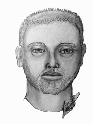 Police sketch of a man wanted in the attempted abduction of a 15-year-old girl on Tuesday, July 17, 2018.