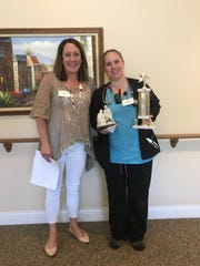 Terri Resch, R.N. at Next Step, was chosen for the Service Excellence Star Award for the month of June at Felician Village. Pictured, from left:Darcy Wech, Felician Village director of nursing, and Resch.