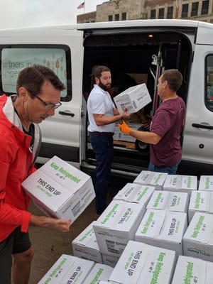 Leftover food from the Iowa State Fair is donated to the Food Bank of Iowa on Aug. 20, 2018.