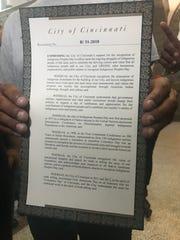 City of Cincinnati Indigenous People' Day resolution.