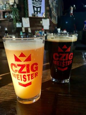 Beers at Czig Meister Brewing.