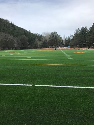 A look at ASU's new artificial turf field at Camp Tontozona.
