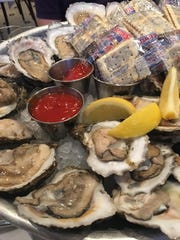 P&J Oysters on the half shell at Luke's.
