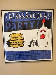 A Jason Polan party invite.