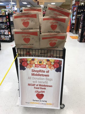 ShopRite of Kingston and ShopRite of Vails Gate, ShopRite of Dolson Avenue offer pre-made bags filled with better-for-you items, baby food and infant cereal customers can donate to a local food bank to help those struggling with food insecurity.