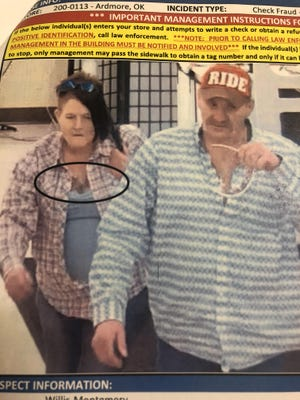 The Ardmore Police Department is asking for the public's assistance in locating the two individuals pictured. The two individuals are potential suspects in cases involving counterfeit checks.