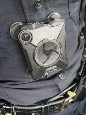 Cumberland County Sheriff Ennis Wright has asked the county for $3 million for body cameras and new vehicle cameras. The Fayetteville Police Department has been using body cameras, pictured here, since 2015.