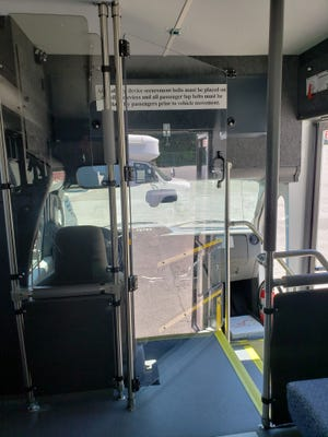 The Driver Protective Barrier, installed on a bus, provides additional protection for transit workers from possible COVID-19 spread, according to Penn Yan-based manufacturer Coach & Equipment. The new product also offers drivers a secondary escape route in case of an accident or crash, according to the company.