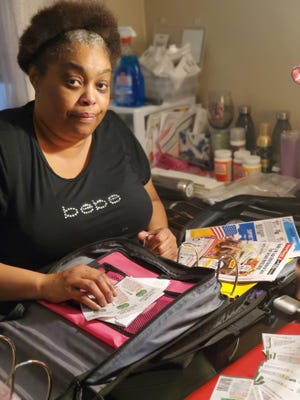 Romona Thompson has become known for her coupon clipping and community-service involvement.