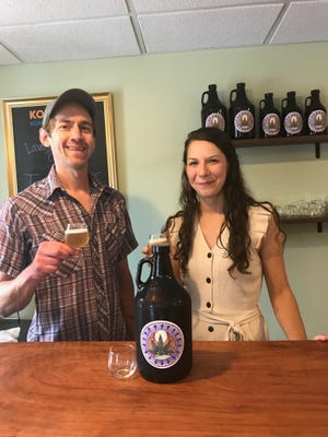 Desiree Collister and Scott Calpin have kombucha and herbal products to offer at their new shop.