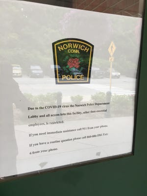 Norwich Police Department's lobby remains closed, though fingerprinting services will resume this month