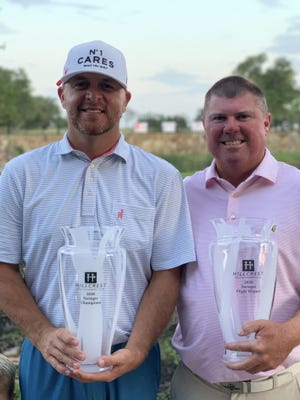 Brady Shivers, left, and Michael Pruitt won the Hillcrest Swinger in a playoff on Sunday. Shivers won the tournament for the fourth year in a row, and the third year in a row with Pruitt.