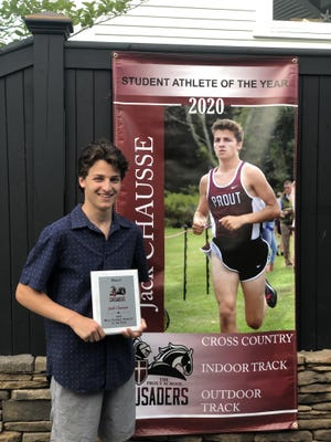 Newport resident Jack Chausse, who participated in cross country and indoor and outdoor track & field, earned the Prout School Male Student-Athlete of the Year award.