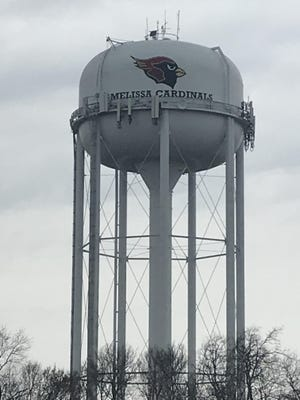 The city of Melissa's water tower is shown. With the implementation of a new system, the city's utility billing department has assumed control of its customer billing and payment process.