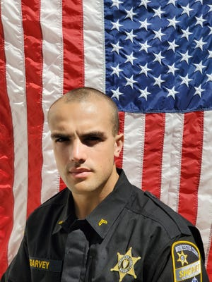 Worcester County Sheriff's Office Basic Recruit Training Academy No. 53 recent graduate, Officer Ryan Garvey of Sutton