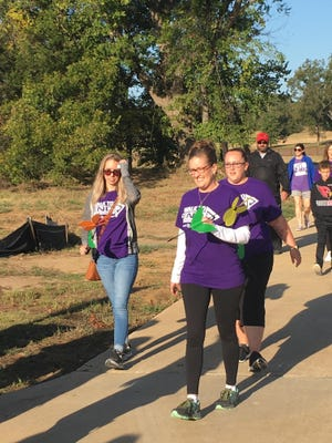 Local folks flocked to the Texoma Health Foundation Park last year for the Walk to End Alzheimer's in this 2019 file photo.
