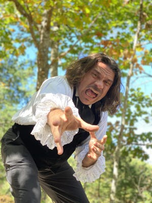 "Kirk Simpson reprises his role as the Master of the Macabre, Edgar Allan Poe, in ""POE: Tales of Fear & Suspense,"" for five outdoor matinée shows at Clay Hill Farm Restaurant beginning Saturday, Oct. 24."