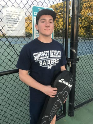 Due to COVID-19 concerns, Somerset Berkley Regional senior Lucas Crook was locked out of what would have been his first high school tennis season. Son of former Somerset High tennis standout Adam Crook, Lucas played baseball for his first three springs at SBR.