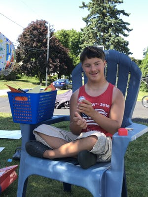 Alex Silvia Rogers enjoyed his surprise, drive-by 15th birthday party on Thursday in Somerset.