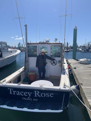 Leo Rose, a Truro resident, has been fishing on MacMillan Pier for 17 years in Provincetown.
